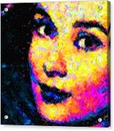 Portrait Of Audrey Hepburn Acrylic Print