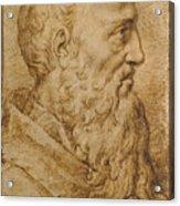 Portrait Of Baccio Bandinelli In Profile To The Right Acrylic Print