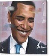 Portrait Of Barack Obama Acrylic Print
