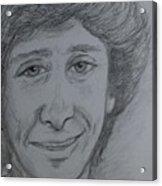 Portrait Of Barry Manilow 3 Acrylic Print