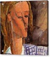 Portrait Of Beatrice Hastings 1916 Acrylic Print