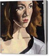 Portrait Of Becca Acrylic Print