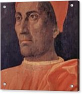 Portrait Of Cardinal Carlo De Medici 1466 Acrylic Print