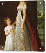 Portrait Of Caroline Murat With Her Daughter Acrylic Print