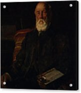 Portrait Of C.d. Barraud, 1897, Wellington, By James Nairn Acrylic Print
