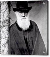 Portrait Of Charles Darwin Acrylic Print by Julia Margaret Cameron