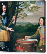 Portrait Of Charles I And Sir Edward Walker Acrylic Print