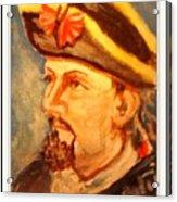 Portrait Of Conrad As British Soldier Acrylic Print