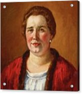 Portrait Of Ekaterina Ivanovna Kogan Acrylic Print