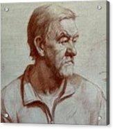 Portrait Of Elderly Man Acrylic Print
