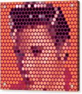 Portrait Of Elvis Presley  Acrylic Print