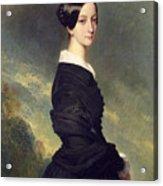 Portrait Of Francisca Caroline De Braganca Acrylic Print by Franz Xaver Winterhalter