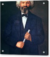 Portrait Of Frederick Douglass Acrylic Print by American School
