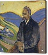 Portrait Of Friedrich Nietzsche Acrylic Print