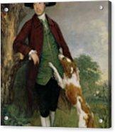 Portrait Of George Venables Vernon Acrylic Print by Thomas Gainsborough
