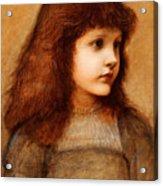 Portrait Of Gertie Lewis Acrylic Print