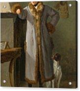 Portrait Of Gottlieb Christian Heigelen As A Hunter Acrylic Print