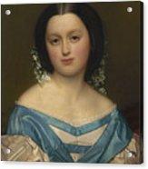 Portrait Of Henriette Mayer Van Den Bergh, At And By Jozef Van Lerius Acrylic Print
