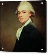 Portrait Of Henry Russell Acrylic Print by George Romney
