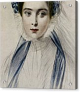 Portrait Of Her Majesty Queen Victoria As A Young Woman By Emile Desmaisons Acrylic Print