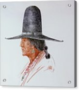 Portrait Of Indian Acrylic Print