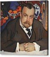 Portrait Of Ivan Morozov 1910 Valentin Serov Acrylic Print