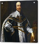 Portrait Of King Charles I After Van Dyck Acrylic Print