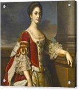 Portrait Of Lady Elizabeth Compton Later Countess Of Burlington Acrylic Print
