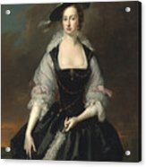 Portrait Of Lady Frances Courtenay Acrylic Print