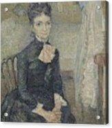 Portrait Of Leonie Rose Charbuy-davy Paris  March  April 1887 Vincent Van Gogh 1853  1890 Acrylic Print
