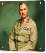 Portrait Of Lieutenant - General The Honorable Sir Edmund Herring Acrylic Print