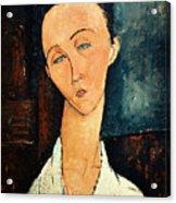 Portrait Of Lunia Czechowska Acrylic Print by Amedeo Modigliani