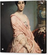 Portrait Of Madame F Acrylic Print by Edouard Louis Dubufe