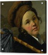 Portrait Of Mademoiselle Acrylic Print