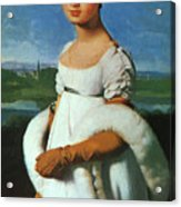 Portrait Of Mademoiselle Riviae 1805 Acrylic Print