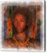 Portrait Of Maillie Acrylic Print