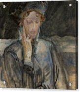 Portrait Of Maria Bal Acrylic Print