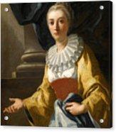 Portrait Of Maria Cavalcanti Ametrano Duchess Of San Donato Acrylic Print