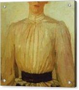 Portrait Of Maria Tolstaya Leo Tolstoy Daughter Acrylic Print