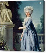 Portrait Of Marie-louise Victoire De France Acrylic Print by Adelaide Labille-Guiard