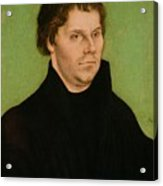 Portrait Of Martin Luther Acrylic Print