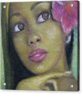 Portrait Of Monica Acrylic Print