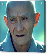Portrait Of Monk In China Acrylic Print