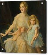 Portrait Of Mrs Claude  Acrylic Print