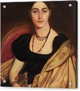 Portrait Of Mrs Devauay Acrylic Print