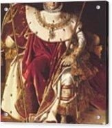 Portrait Of Napolan On The Imperial Throne 1806 Acrylic Print