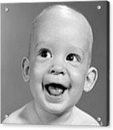 Portrait Of Nearly Bald Baby, C.1960s Acrylic Print
