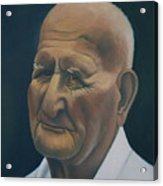 Portrait Of Old Man In St. Louis Acrylic Print