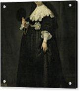 Portrait Of Oopjen Coppit Acrylic Print