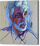Portrait Of Paulinho - Guitarist-singer - In Progress 2 Acrylic Print
